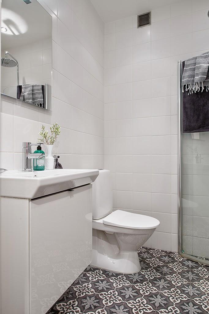 小户型白色北欧风公寓卫生间装修效果图