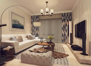 100平米三居室装修效果图