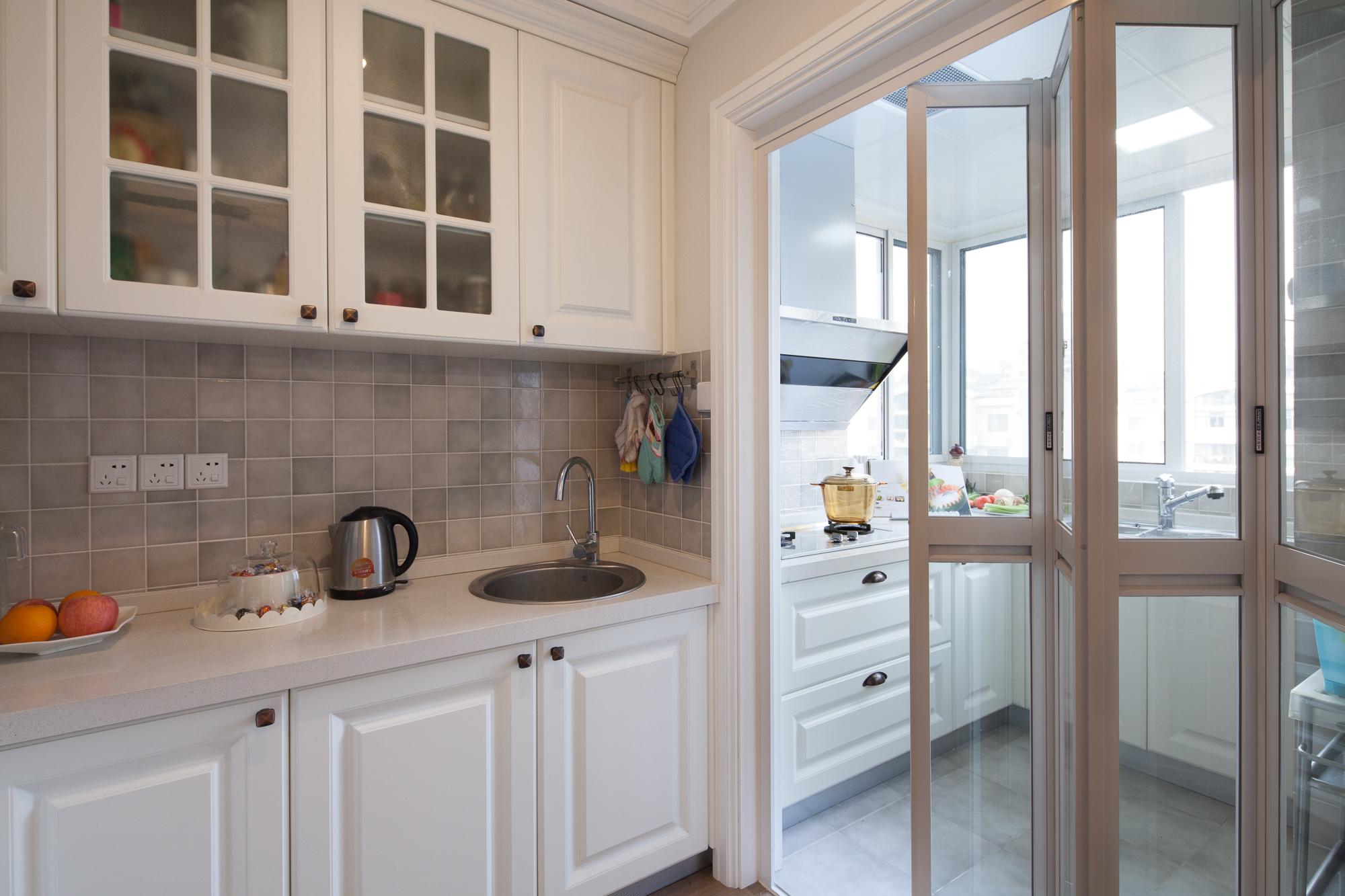 118㎡美式风格厨房装修效果图