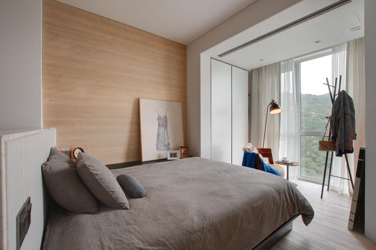 40㎡简约单身公寓卧室装修效果图