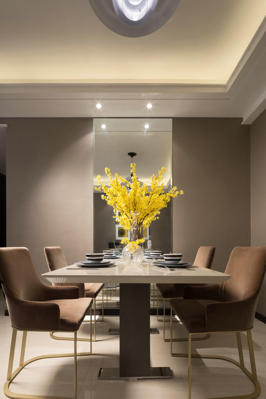 现代简约样板房餐厅装修效果图