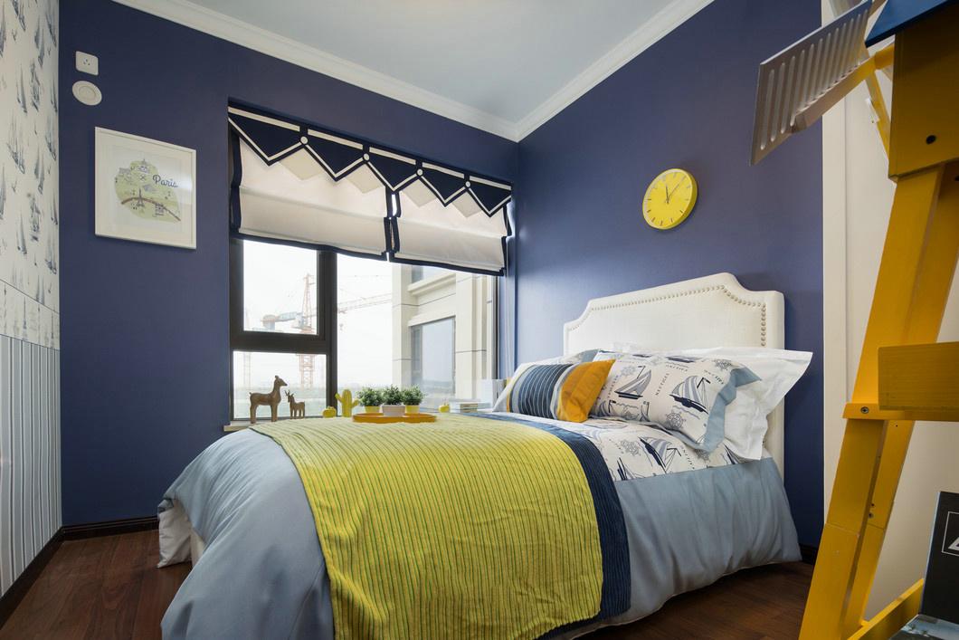 现代简约样板房卧室装修效果图