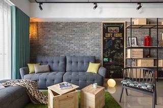 92平米工业风格装修沙发布置图