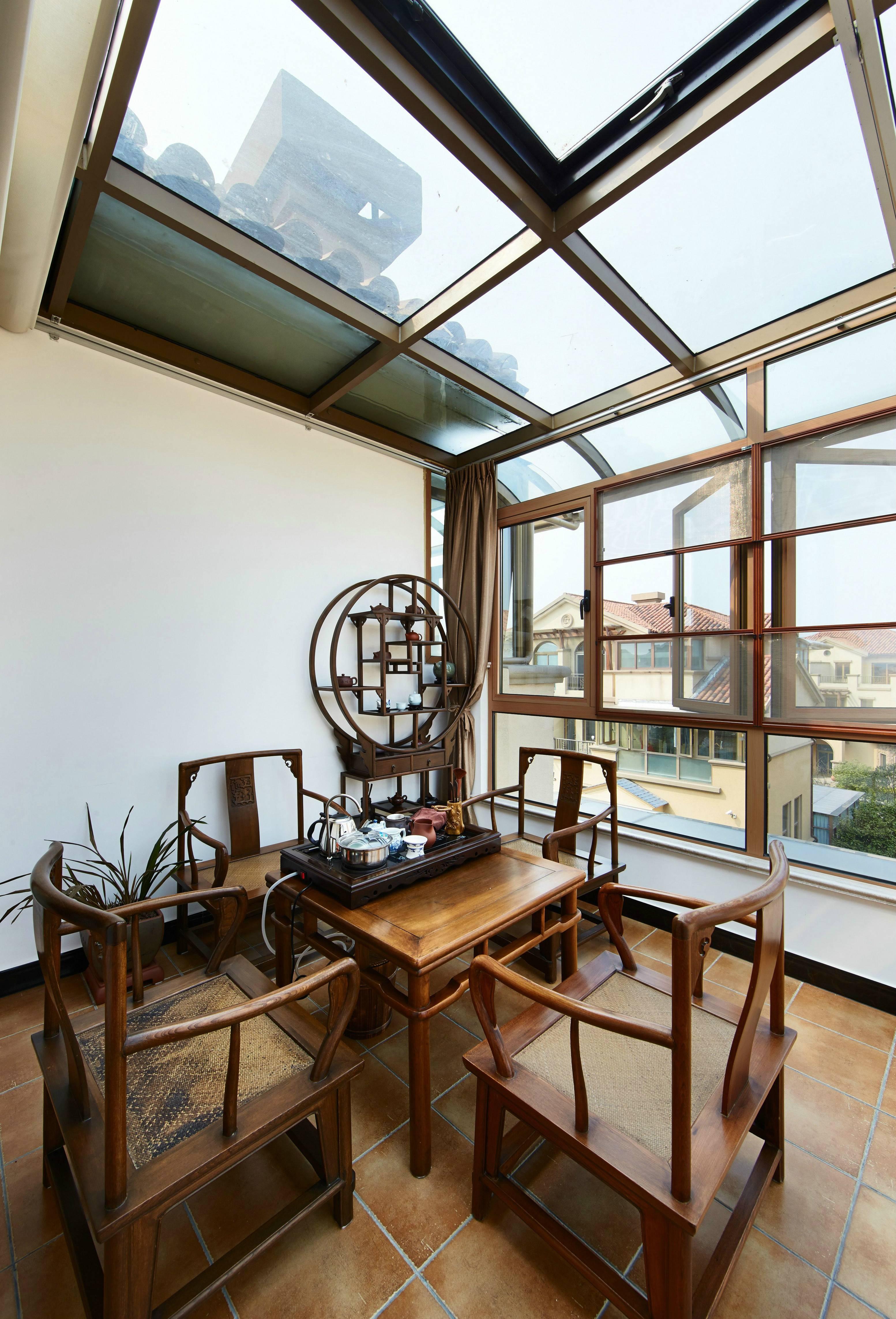 中式风格别墅茶室装修效果图