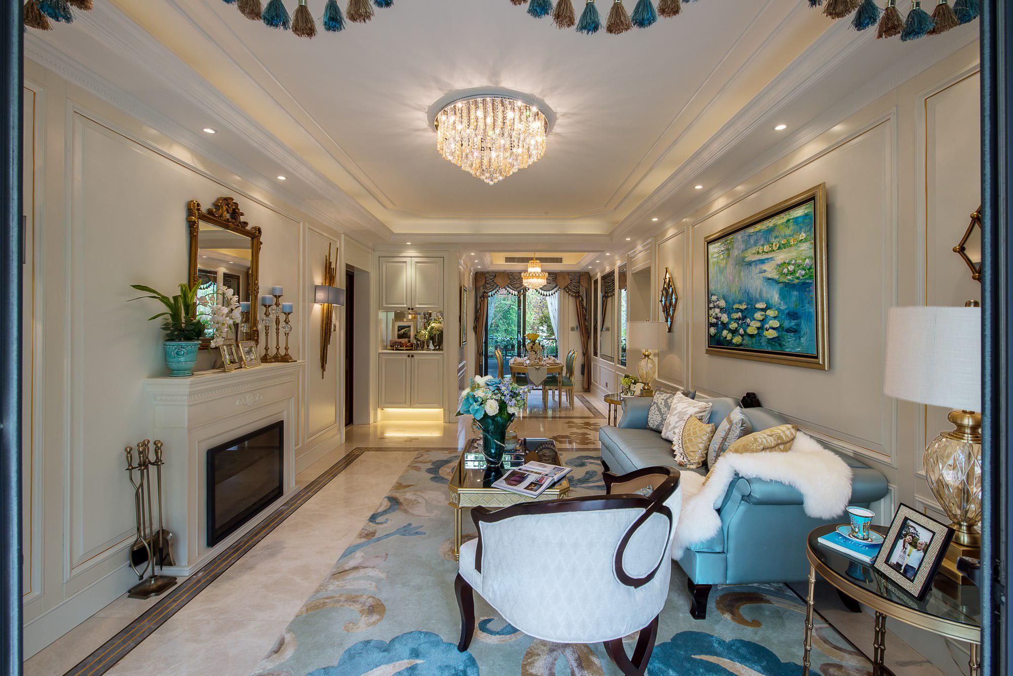 豪华美式风格别墅客厅装修效果图