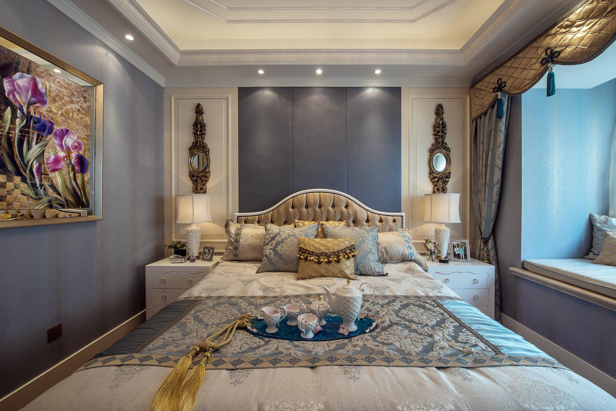 豪华美式风格别墅卧室装修效果图