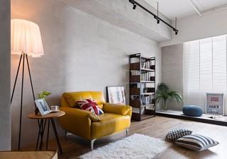 63平轻工业风装修黄色沙发设计图