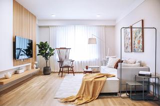 北欧简约二居室客厅装修效果图