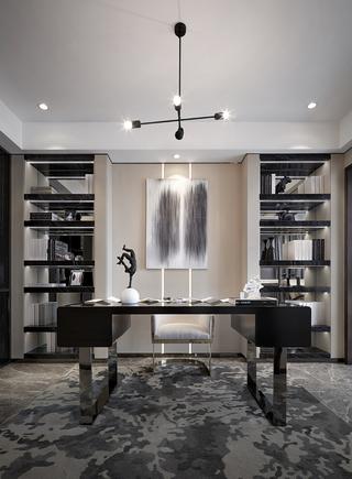 120㎡现代简约书房装修效果图