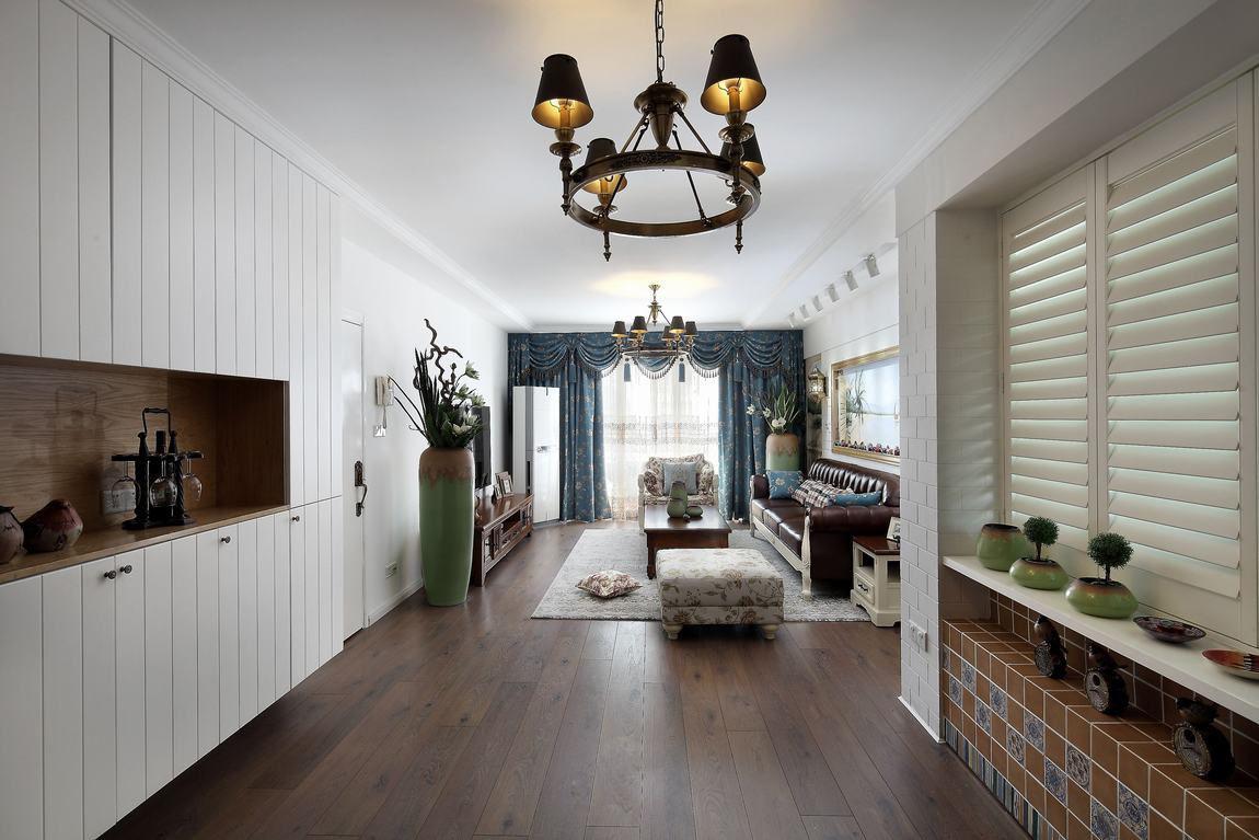 混搭风格三居室装修设计图