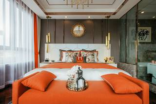 时尚混搭别墅样板间卧室装修效果图