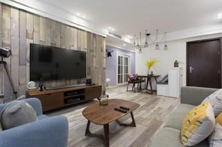 100平北欧风格电视背景墙装修效果图