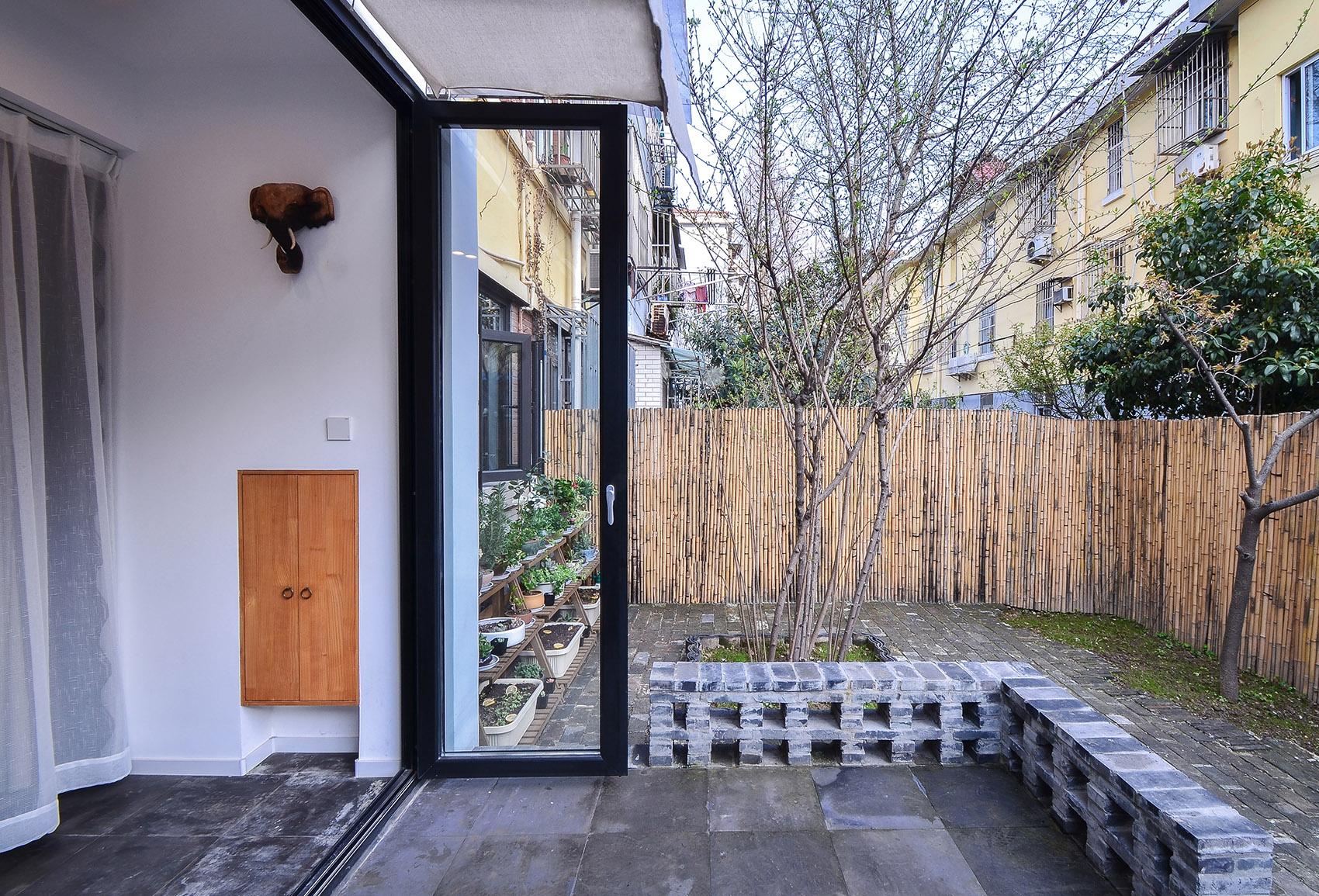 小户型简约中式风庭院装修效果图