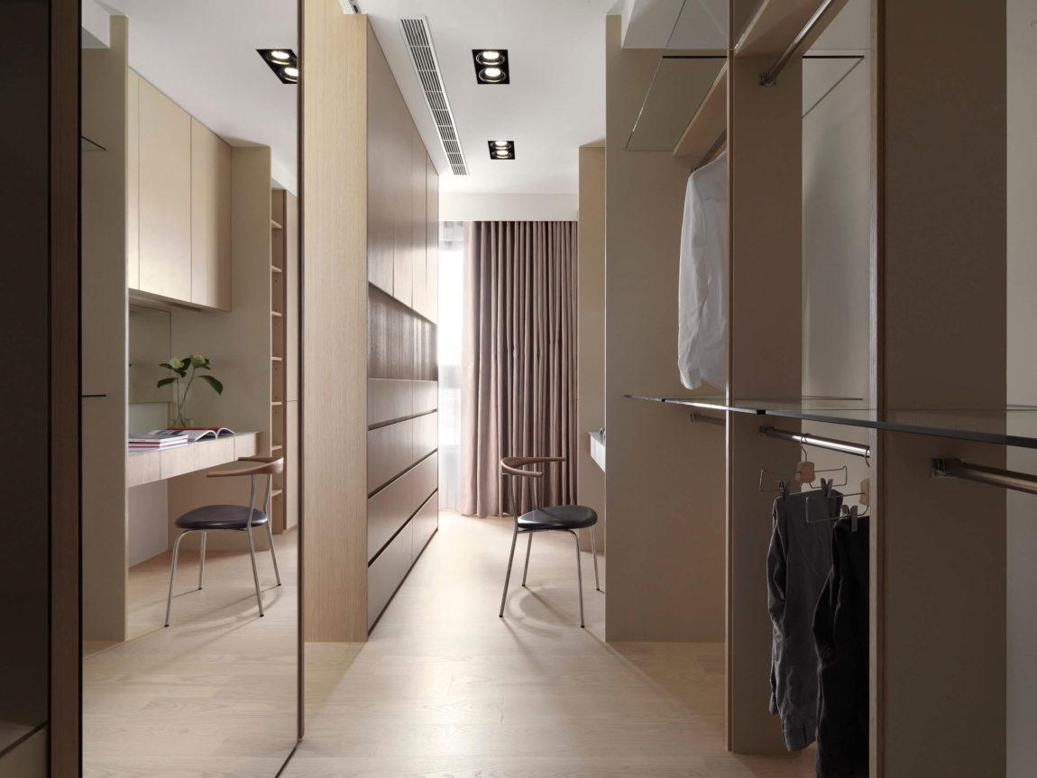 现代公寓衣帽间装修设计效果图