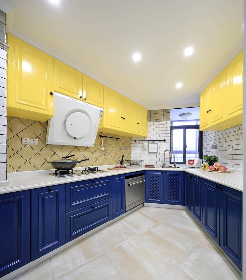 120㎡美式风格厨房装修搭配图