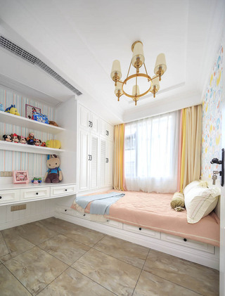 120㎡美式风格榻榻米儿童房装修设计图