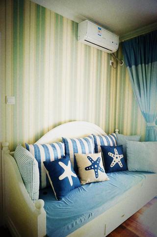 120平米地中海风格装修沙发床设计图