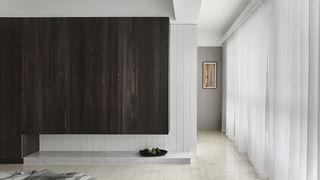 165平米现代风格木饰墙柜装修效果图