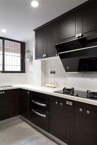 130㎡现代中式风格厨房装修效果图