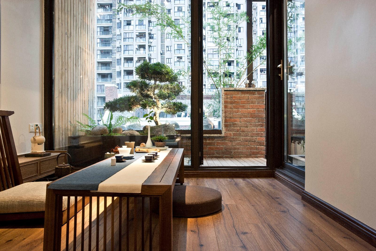 现代中式混搭别墅茶室装修效果图