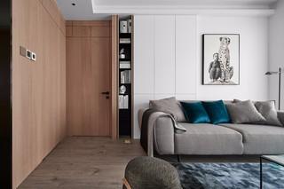 现代简约三居室装修沙发布置图