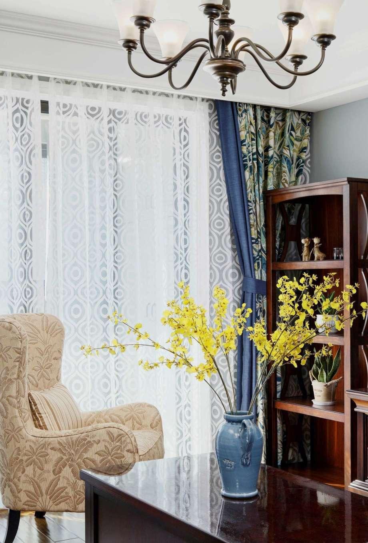 130㎡美式风格装修窗帘设计图