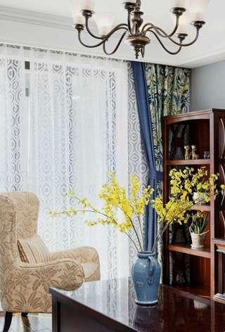 130㎡美式風格裝修窗簾設計圖