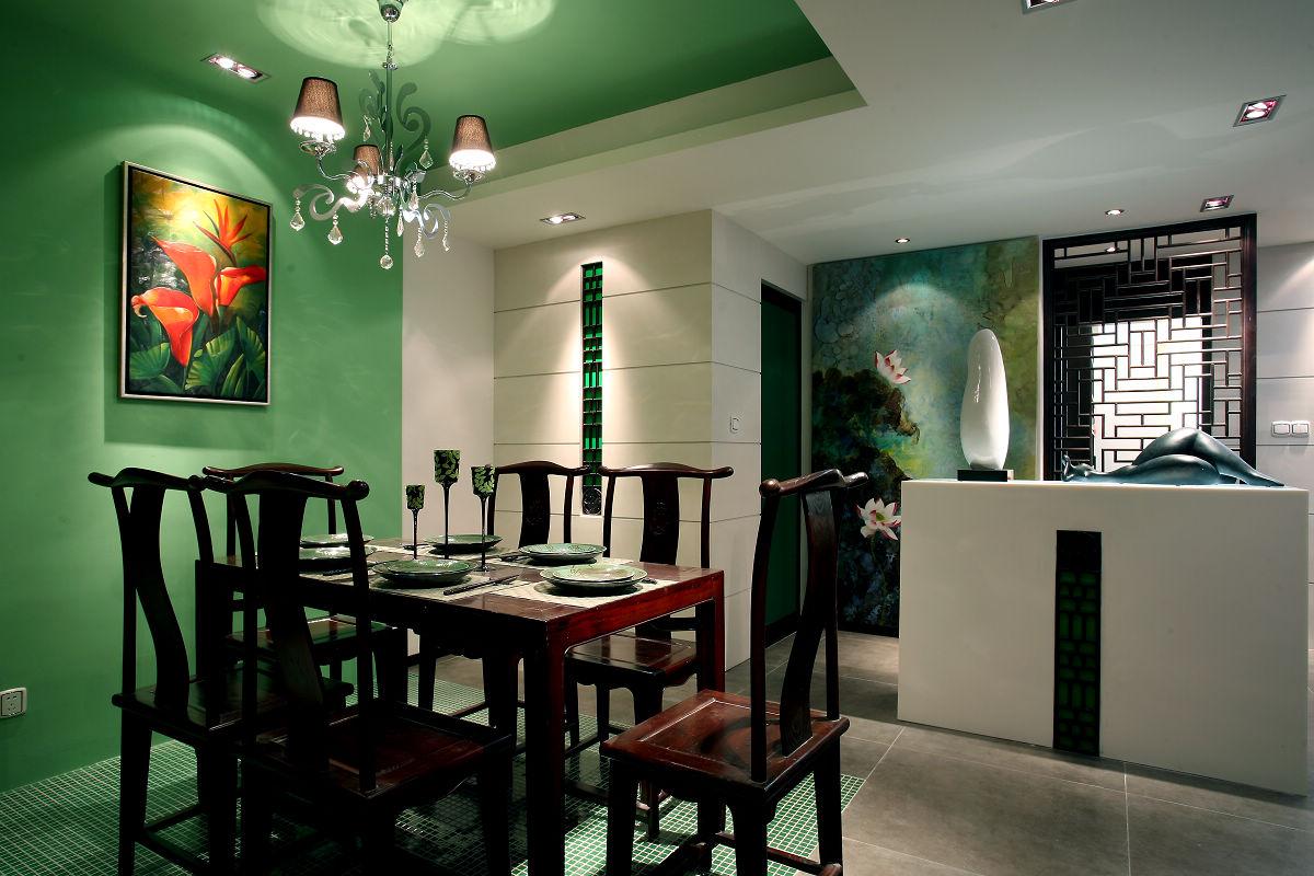 新中式古典风格餐厅装修效果图