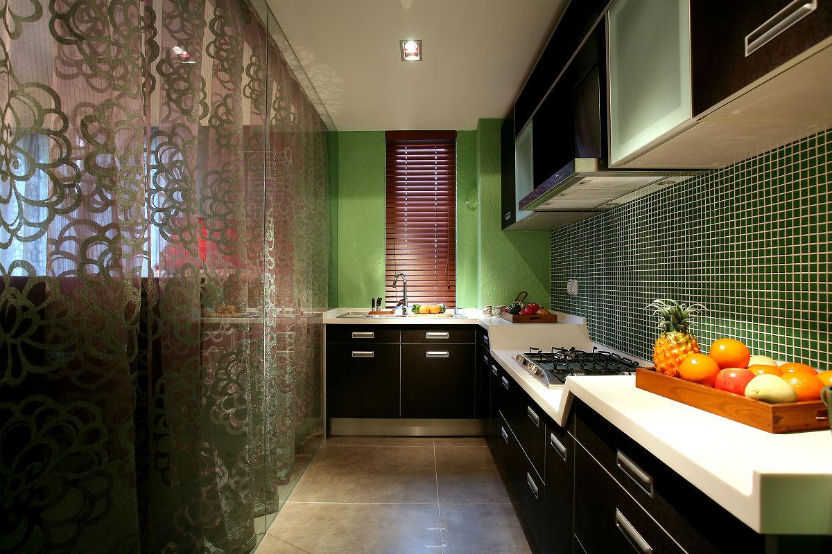 新中式古典风格厨房装修效果图