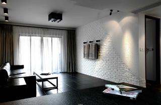 黑白现代简约客厅装修效果图