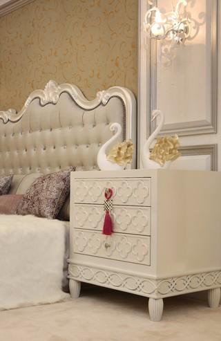 三居室欧式风格装修床头柜设计图