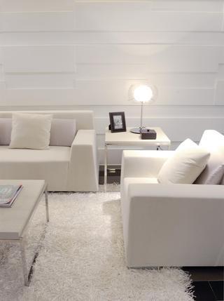 现代简约三居室装修沙发设计图