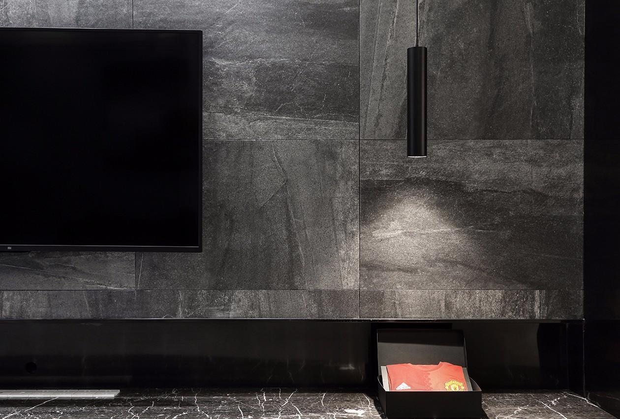130㎡现代简约电视背景墙装修效果图
