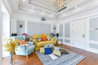 美式风格别墅装修沙发抱枕搭配图