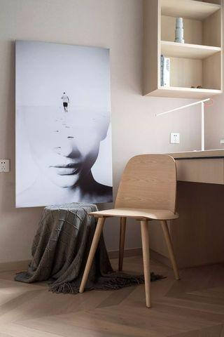 87㎡简约二居室装修书桌椅设计图