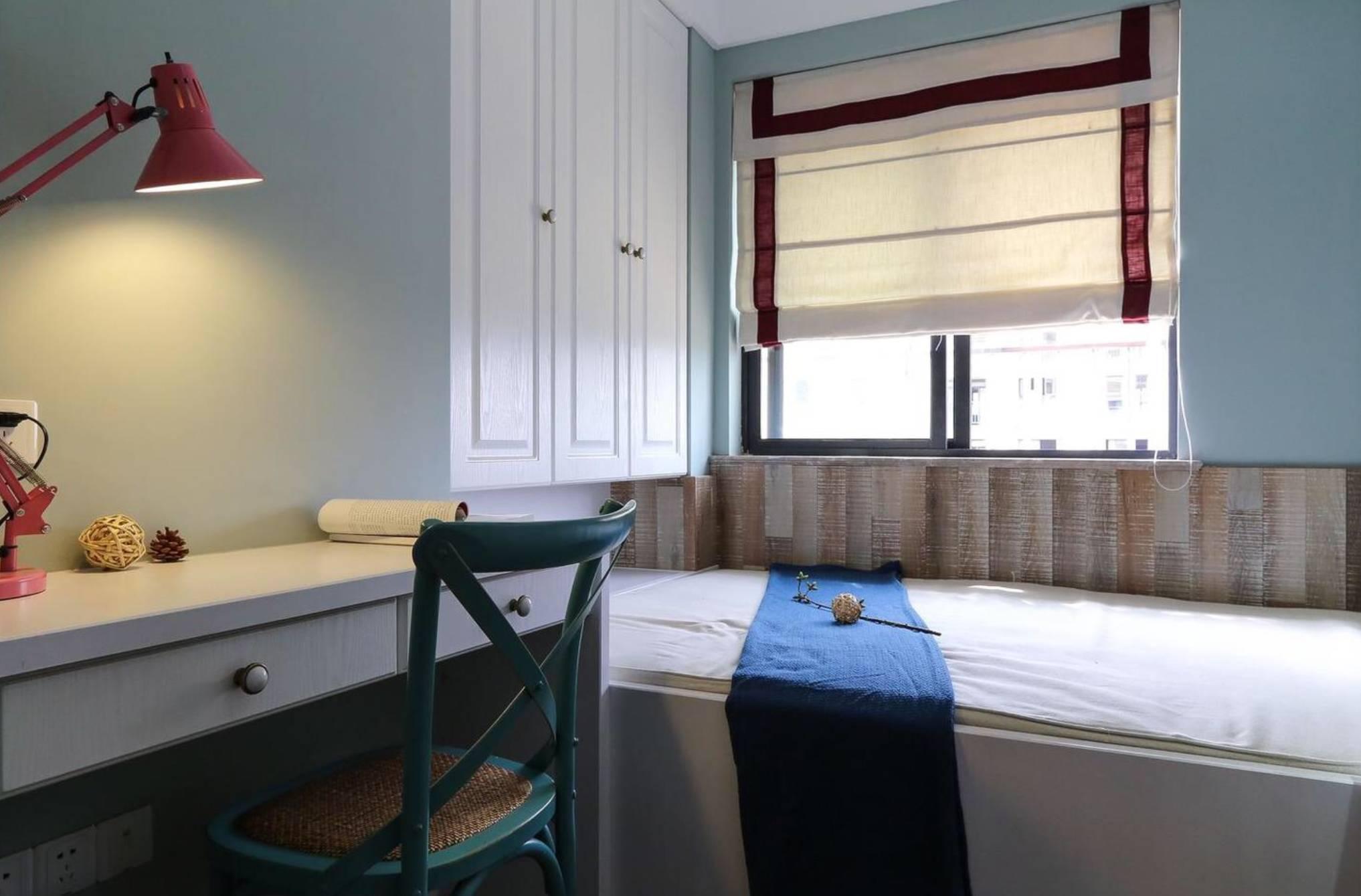 三居室简约美式榻榻米书房装修效果图