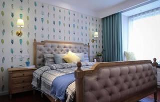 三居室简约美式卧室装修效果图