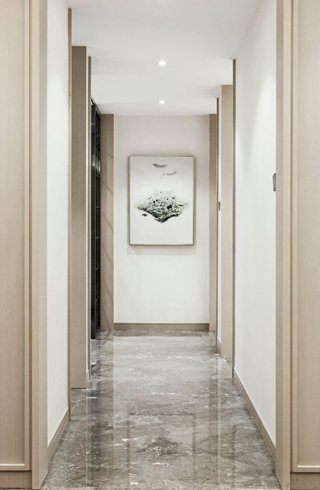 116㎡现代风格样板间走廊装修效果图
