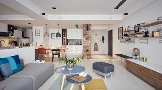 大户型北欧风格客厅装修设计效果图