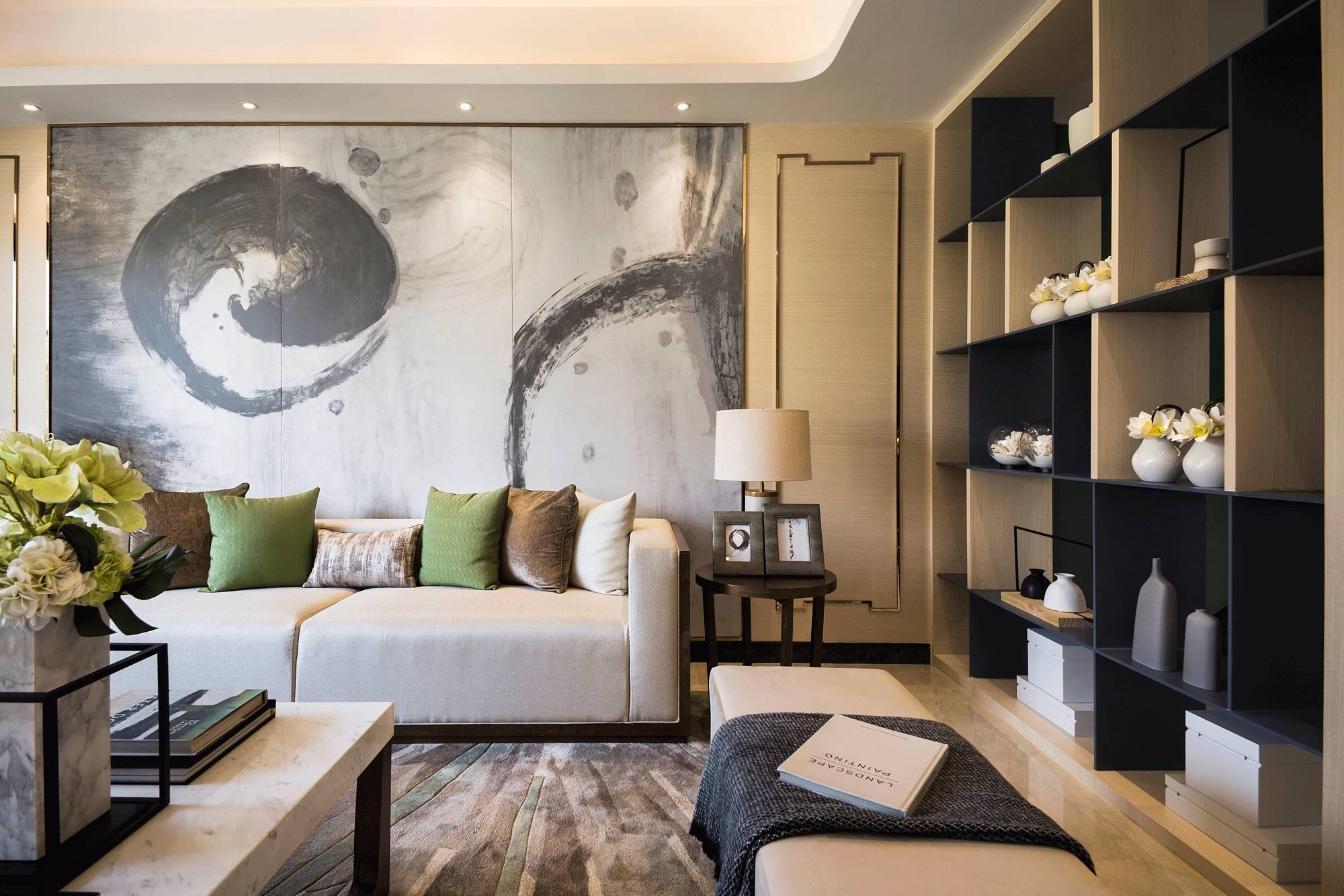 新中式风格四居客厅装修效果图