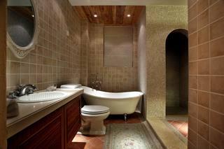 地中海混搭三居室卫生间装修效果图