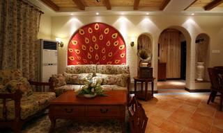 地中海混搭三居室客厅装修效果图