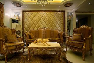 欧式风格别墅沙发背景墙装修效果图