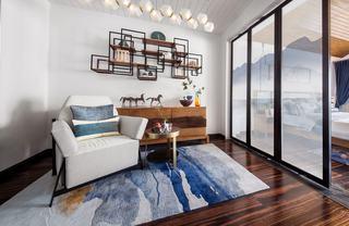 大户型新中式风休闲室装修设计图