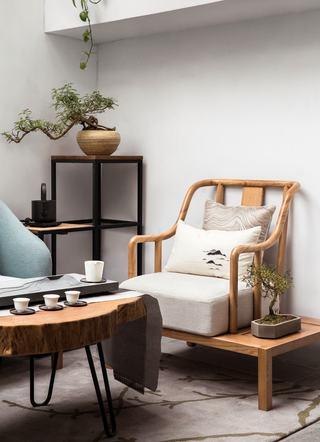 大户型新中式风茶室装修设计图