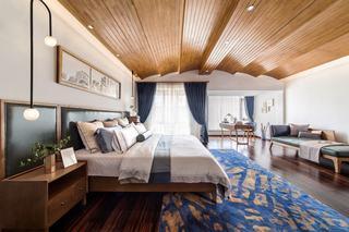 大户型新中式风卧室装修设计图