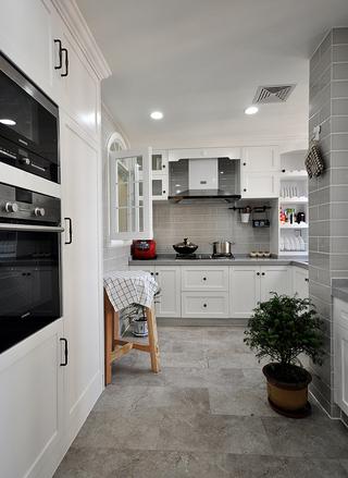 120平米美式三居厨房装修效果图