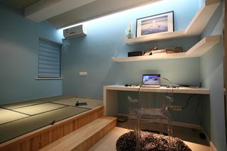 现代简约二居室榻榻米书房装修效果图
