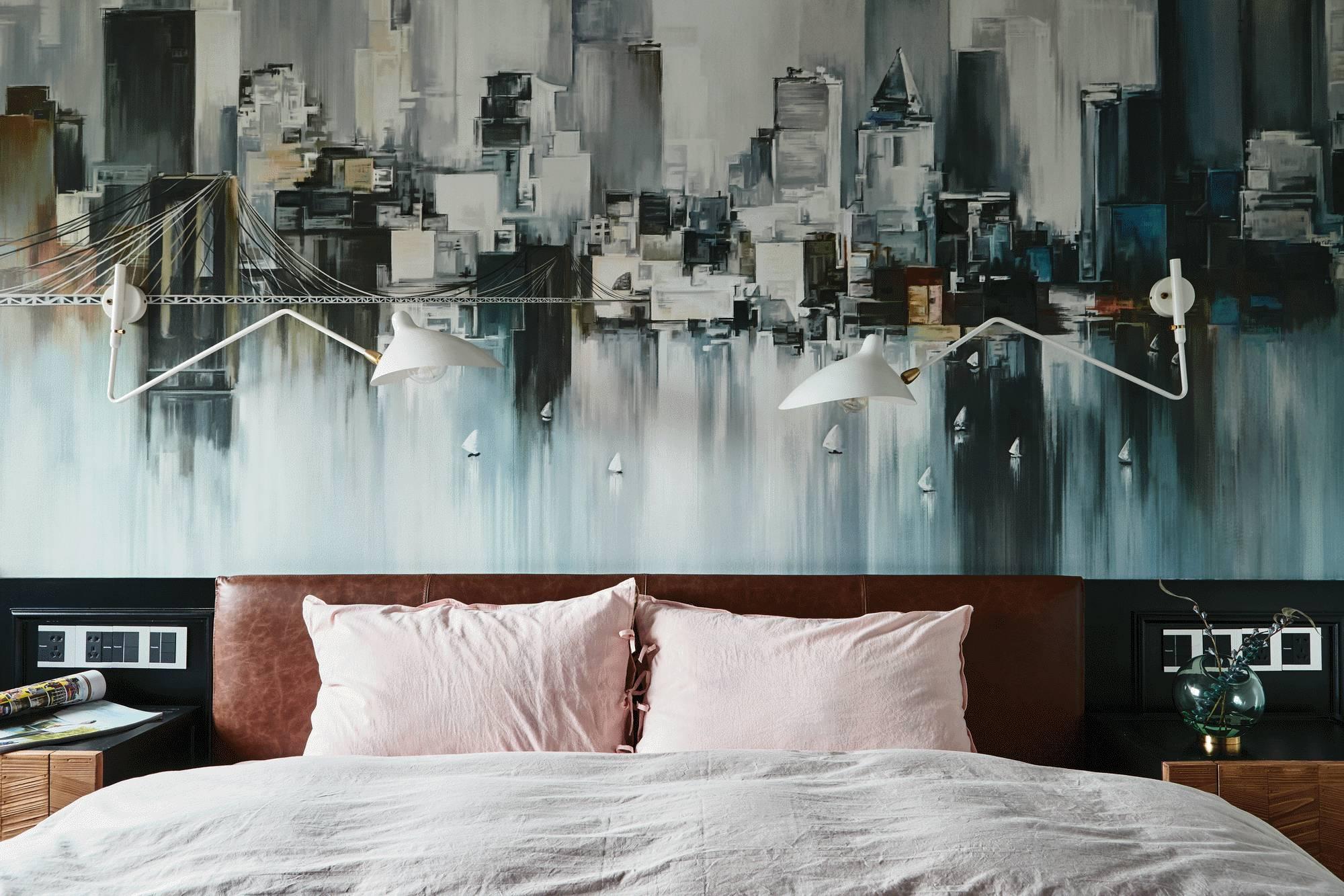混搭风格三居卧室装修设计图