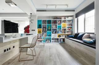 混搭风格三居书房装修设计图